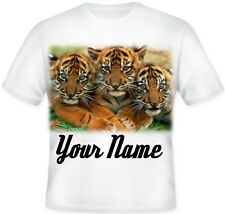 Tiger Cubs GIRL TOP Kids Child's Personalised T Shirt Great  GIFT Idea!