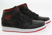 554724-028 Men Nike Air Jordan 1 Mid black white gym red retro