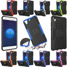 Rugged Hybrid Shockproof Hard Armor KickStand Case Cover For Huawei Ascend Y6 II