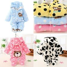 3-18M Newborn Baby Clothes Sets Girls Boys Clothes Romper Winter Outwear Outfits