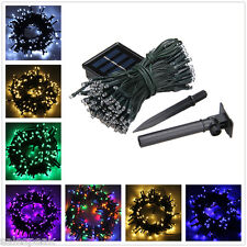 17M 100M Solar Powered LED Fairy String Light Xmas Party Outdoor/Indoor Decor