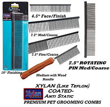 XYLAN (Like TEFLON) STEEL Dog Cat Pet PREMIUM GROOMING COMBS Greyhound Finishing