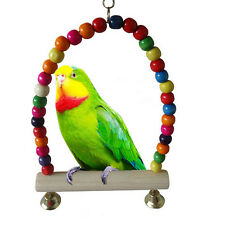 Pet Parrot Toy Colorful Bird Bell Ball For Parakeet Cockatiel Chew Fun Cage BD