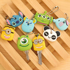 Novelty Kawaii Cartoon Animal Silicone Key Caps Covers Keys Keychain Case Shell