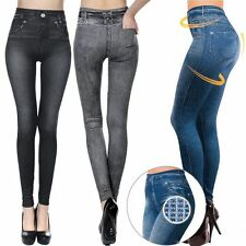 Hot Women Girls Skinny Jeggings Stretchy Leggings Jeans Pencil Tight Trousers MC