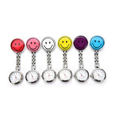 Portable Smile Face Clip-on Nurse Doctor Brooch Pendant Fob Pocket Quartz Watch#