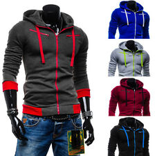 Mens Winter Slim Hoodie Warm Hooded Sweatshirt Coat Jacket Tops Sweater Pullover