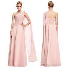 One Shoulder Chiffon Bridesmaid Dresses Formal Gown Party Cocktail Evening Prom