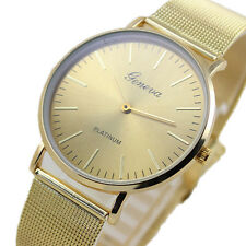 Geneva Women's Ladies Fashion Stainless Steel Analog Quartz Wrist Watch Bracelet