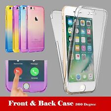 Shockproof 360° Silicone Protective Clear Case Cover For Apple iPhone 6S 7 Plus