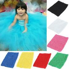9inch Baby Crochet Tube Top Elastic Waistband Headband Tutu Skirt Pettiskirt