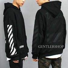 Men's Fashion Contrast Check Stitched Boxy Black White Pocket Hoodie, GENTLER