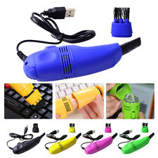 Mini USB Keyboard Vacuum Cleaner Brush Dust Cleaning for Laptop PC Computer