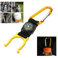 Convenient!Outdoor Hook Carabiner Compass Water Bottle Buckle Holder Clip P4A7