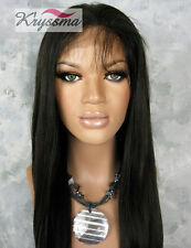Human Hair Silk Top Lace Front Wigs Yaki Straight Indian Remy Hair Glueless Wig