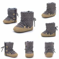 Baby Girls Winter Warm Boots Shoes Newborn Toddler Soft Anti-slip Booties 0-18M