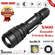 Super Bright Zoomable 5 Modes CREE Chips XML T6 LED Flashlight Torch Lamp Light