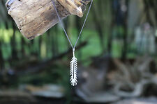 Tribal Feather Necklace Made From Up Cycled Silver Plated Flatware - Environment