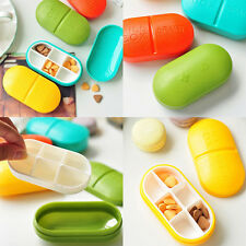Portable Capsule Type 6 Lattice Medicine Pill Box Drug Storage Container Case