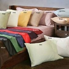 Sale 1000TC Very Soft 2PC Pillow Cases/Shams Striped 100%Cotton Choose Size Gift