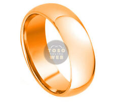 Men's 7mm Rose Gold IP Tungsten Band, Classic Dome High Polish TS3340