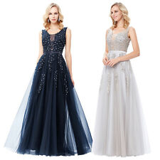 Sexy V Neck Women Formal Long Bridesmaid Dress Prom Party Cocktail Evening Gowns