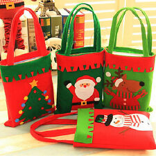 Santa Claus Christmas Stocking Gift Bags Christmas Candy Bags Xmas Decor OL