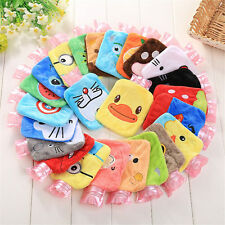 Cute Plush Cartoon Thick Hot Water Bottle Bag Warm Relaxing Heat Cold Therapy
