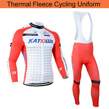 Thermal Fleece Lined Mens Bicycle Cycling Jersey Jackets Bib Pants Tights Winter