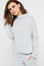 Vila Lune High Neck Knitted Top - Grey