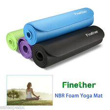 10mm NBR Foam Yoga Mat Exercise Fitness Workout Blanket GYM Pilates Pad Non Slip