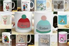 Personalised Christmas Mug Xmas Secret Santa Gift Ideas Stocking Fillers