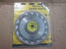 """Oldham 7"""" carbide tipped 16 tooth adjustable Dado blade 3/16 t - 13/16 inch"""