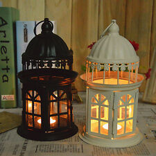 New Hollow Candle Holder Tealight Candlestick Hanging Lantern Bird Cage Style
