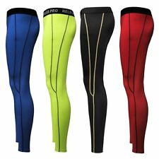 Men Sports Gear Compression Apparel Nylon Skin Tights Cycling Running Long Pants
