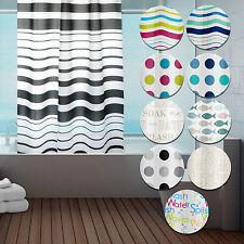 Quality Peva Shower Curtain With Ring Hooks - For Bathroom - 180 X 180 Cm Long