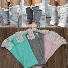 Infant Baby Kid Boy Girl Toddler Leggings Socks Knee Soft Legs Boots Leg Warmers