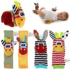 New Baby Infant Developmental Wrist Strap Watch Foot Sock Rattles Toys Finders