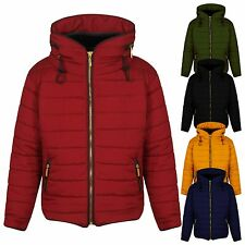 Girl Kids Children Quilted Padded Puffer Bubble Fur Collar Warm Jacket Coat 1/14