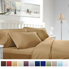 Hot Sale 4 Piece 1800 Count Deep Pocket Bed Sheet Set California King 12 Colors