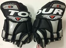 "Tour Evolution EVO Pro Hockey Gloves Junior 11"" Black and Silver 3002 - HIS"