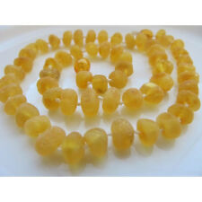 New - Genuine baltic amber necklace, Raw Lemon round baby amber necklace