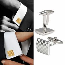 Men's Fashion Silver Cufflinks Metal Mens Wedding Party Cuff Links Gift 1Pair