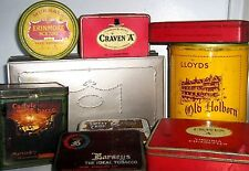 COLLECTOR's TINS - TOBACCO / CIGARETTE 1960/80  click SELECT - to browse / order