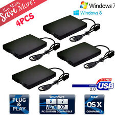 LOT 4 1.44MB 3.5 Inch USB External Floppy Disk Drive Diskette FDD for Laptop TO
