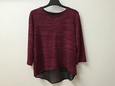 NEW BURGUNDY TOP WITH SPLIT BACK FOR GIRLS AGES 7 8 9 10 11 12 YEARS OLD