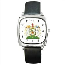 Royal Coat of Arms Scotland Leather Strap Watches - Tabard Surcoat