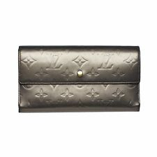 Louis Vuitton Gray Vernis Verl Bronze Sarah Wallet. Beautiful!