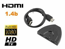 3 IN 1 OUT 1080P Hub V1.4B HDMI Switcher Splitter Cable For HDTV XBOX Lot LU