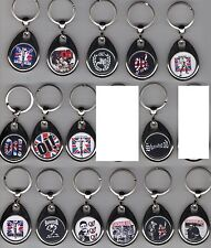 SKINHEAD & Oi KEYRING metal swivel style various designs Selection 2